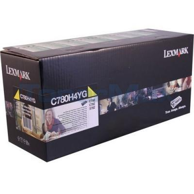 LEXMARK C780 PRINT CARTRIDGE YELLOW RP TAA 10K